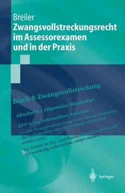 Zwangsvollstreckungsrecht im Assessorexamen und in der Praxis von Breiler,  Jürgen