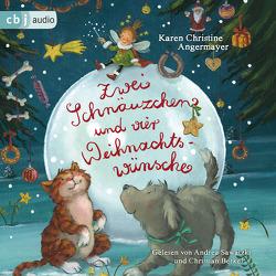 Zwei Schnäuzchen und vier Weihnachtswünsche von Angermayer,  Karen Christine, Berkel,  Christian, Sawatzki,  Andrea