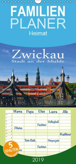 Zwickau – Stadt an der Mulde – Familienplaner hoch (Wandkalender 2019 , 21 cm x 45 cm, hoch) von LianeM
