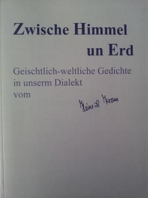 Zwische Himmel un Erd von Cadora,  Georg, Kraus,  Heinrich