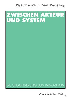 Zwischen Akteur und System von Blättel-Mink,  Birgit, Renn,  Ortwin