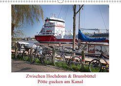Zwischen Hochdonn & Brunsbüttel: Pötte gucken am Kanal (Wandkalender 2019 DIN A3 quer) von Ola Feix,  Eva