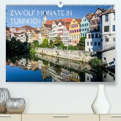 Zwölf Monate in Tübingen (Premium, hochwertiger DIN A2 Wandkalender 2020, Kunstdruck in Hochglanz) von Caladoart