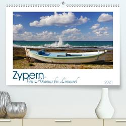 Zypern. Von Akamas bis Limassol (Premium, hochwertiger DIN A2 Wandkalender 2021, Kunstdruck in Hochglanz) von M. Laube,  Lucy